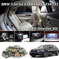 100% White Error Free Canbus LED Lamp interior dome map roof light bulb Kit for BMW 5 Series E39 E60 E61 F10 F11 (1996 2017)