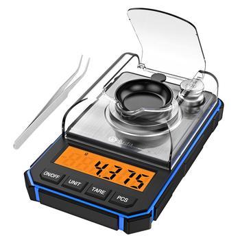 0.001g Digital Scale Portable Mini Scale Precise Graduation Professional Pocket Scale Milligram 50g Calibration Weights Tweezer 7