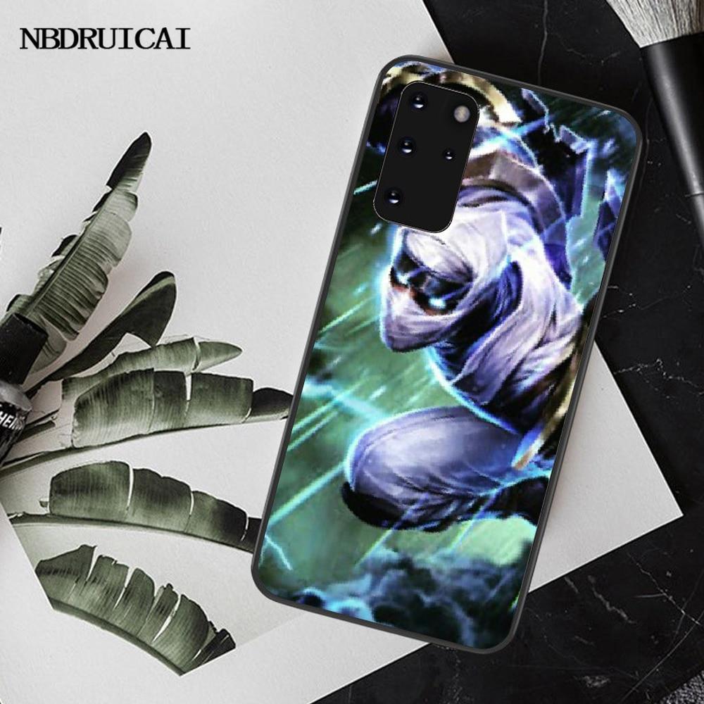 Nbdruicai league of legends lol herói caso de telefone rígido capa para samsung s20 plus ultra s6 s7 borda s8 s9 mais s10 5g