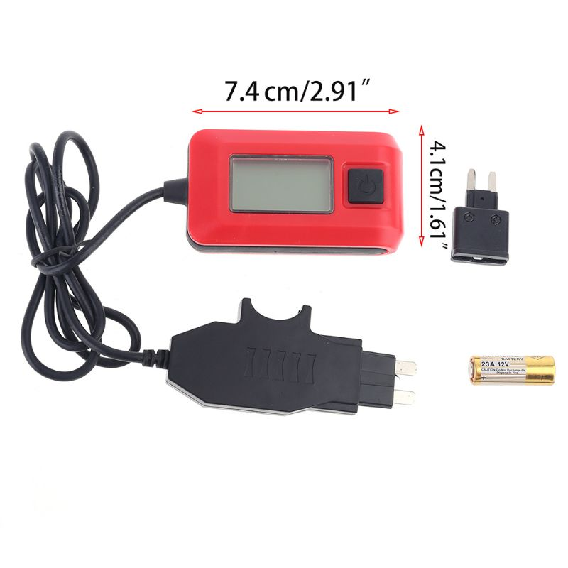 GUMEI Auto Fuses Buddy Mini Tester Detektor Auto Elektrischer Strom AE150 12V 23A LCD