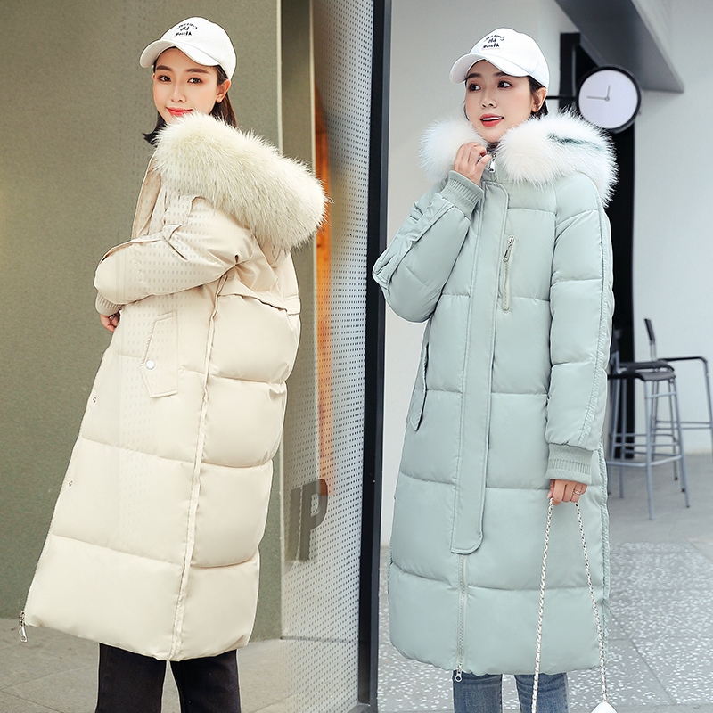 Ins   Down   Cotton Girls Long Fund Back Season Special Selling Winter Loose   Coat   2019 Cotton-padded Clothes Student Easy