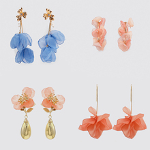 цена Bestessy ZA Crystal Earrings 2019 Newest Handmade Bijoux Boho Long Statement Earrings for Women Wedding Party Gifts Accessories