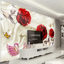 beibehang Custom wallpaper 3d stereo photo mural abstract creative red