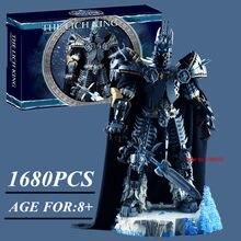 Novo jogo wow filme guerra de brinquedos o warcrafted lich modelo rei cavaleiro de ferro robô blocos de construção tijolos brinquedos presente do miúdo