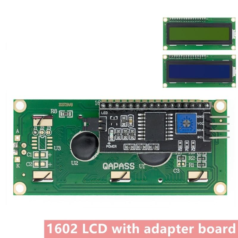 Módulo lcd tela verde azul iic/i2c 1602 para arduino 1602 lcd uno r3 mega2560 lcd1602 + ic2