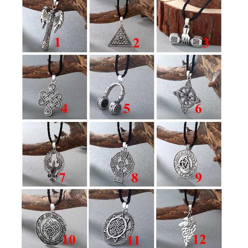 Chengxun eslavo perun machado pingente dos homens colar viking machado celta amuleto nordic talismã jóias gótico retro pingente pagão