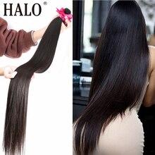 Brezilyalı saç örgü demetleri düz 28 30 32 40 inç 1 3 4 demetleri doğal renk 100% insan saçı uzun remy saç ekleme