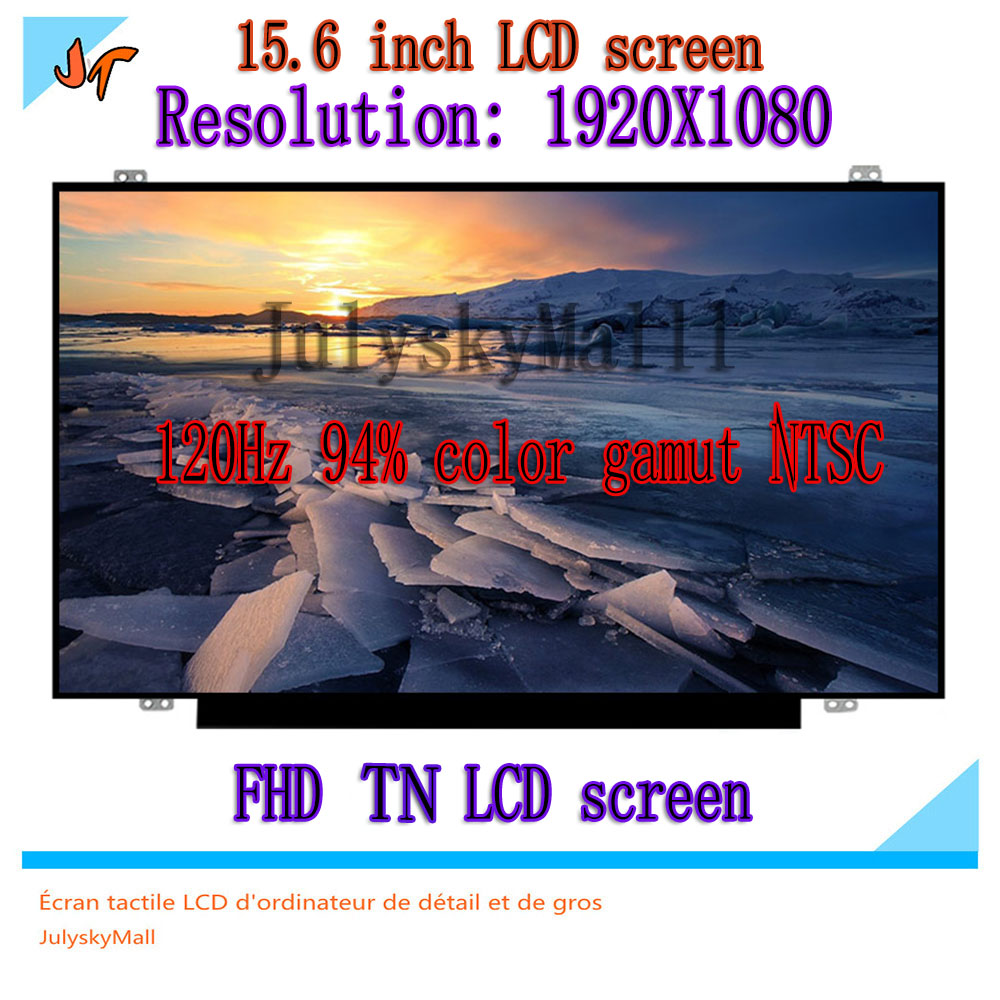 120 hz led screen94 % cor gama hd lcd monitor portátil 15.6