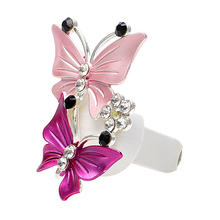 Car Perfume Fragrance Air-Freshener Natural-Smell LEEPEE Outlet-Clip Butterfly Car-Styling