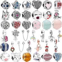 Серебро 925, для мальчиков и девочек, Мики, единорог, подвески с бусинами, подходят для браслетов Пандора и ожерелья для женщин, сделай сам, для влюбленных, ювелирное изделие
