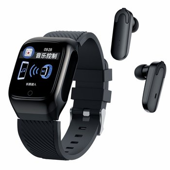 S300 Smart Watch para hombre, auriculares Táctiles con Bluetooth, auriculares para música, monitor de actividad física, reloj de presión arterial para Android iOS