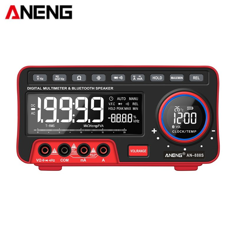 ANENG AN888S Digital Multi-function Automatic True RMS Multimeter Profesional Multitester With Bluetooth Speaker Ohm Meter
