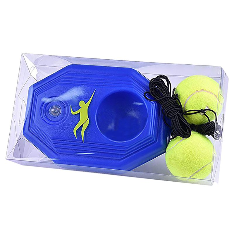 Tennis Ball Trainer Self-study Baseboard Player Training Aids Practice Tool Supply With Elastic Rope Base GMT601