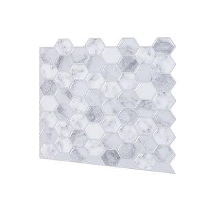 Vivid 12*12 дюймов самоклеящиеся виниловые обои, кухонный стикер, пилинг и палка метро 3D эффект плитки-10 листов