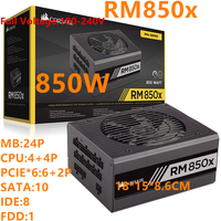 New PSU For Corsair Brand ATX 12V Full Module 80plus Gold Silent Power Supply 850W Power Supply RM850x