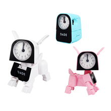 Educational Multifunctional Manual Deformation Dog Alarm Clock Fun Robot Toys Cartoon Action Furgure