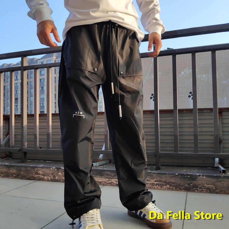2020 A-COLD WALL Pants High Street Two-layer Pocket A-COLD-WALL* Trousers Men Women High Quality ACW  Jogger Pants Inside Tag