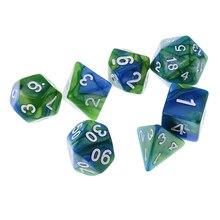 14 шт многоцветных многогранных кубиков D12 D10 D8 D6 D4 для ролевых игр D&D