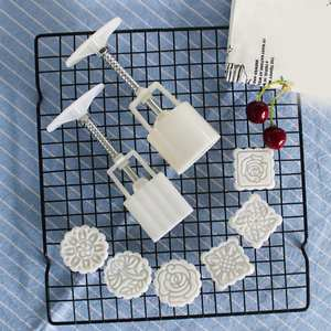 Cake-Cutter Mold Cookie-Stamps Cakehand-Molding-Machine Flower-Print Square Moon