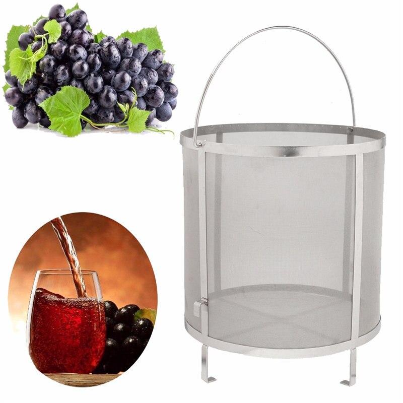 Hlzs-нержавеющая сталь пивной винный дом фильтр для домашнего пивоварения Корзина Фильтр хип цилиндр барная посуда барные инструменты