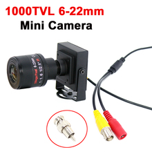 1000TVL/700TVL 6 22mm Varifocal Lens Metal Mini Camera Manual Adjustable Lens with RCA Adapter CCTV camera Car Overtaking Camera