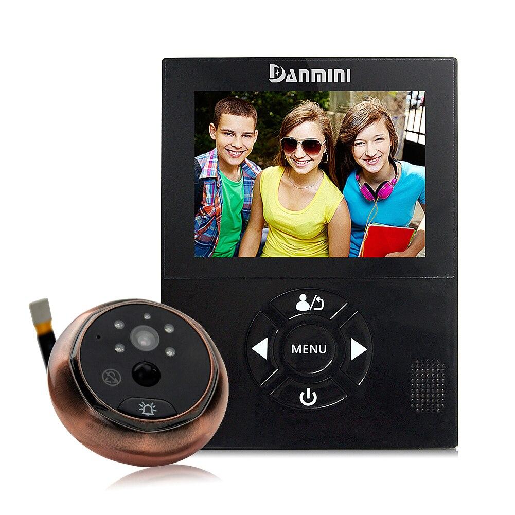 Nouveau 3.0 pouces électronique judas infrarouge Vision nocturne mouvement détecté lancer Anti-vol cambriolage visuel sonnette
