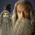 Мужской парик на Хэллоуин и борода, модный волшебный Поттер, Альбус Дамблдор, Волшебник для косплея, высокое качество, Длинные Аксессуары дл...