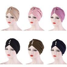 Casquette hijab 2020 coton, foulard musulman solide pour femmes, casquette islamique, arabe, turban d'été