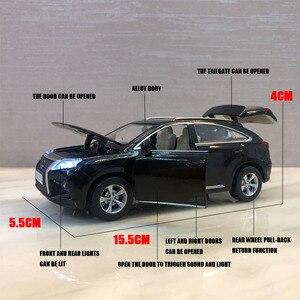 Image 2 - Lexus SUV RX350 1:32, modèle de voiture en alliage moulé sous pression, modèle de voiture jouet pour enfants, cadeaux danniversaire de noël, livraison gratuite