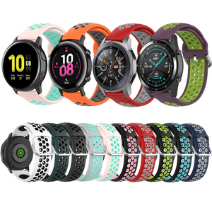 20mm 22mm Watchband Strap for Samsung Galaxy Watch 42mm 46mm Active 2 Gear S2 S3 Huawei Watch gt 2 Sport Silicone Band Bracelet