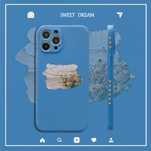 Flowers Straight Edge Phone Case for Redmi Note 7 Fundas Side Print Graffiti Cover for Redmi 4X 4A 5 6 6A 7 8 8A MI10 11 Coque
