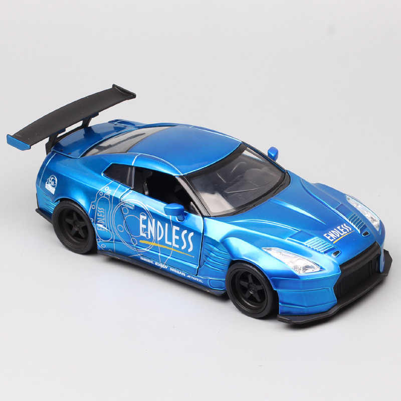 Escala de 1:24 Jada 2009 NISSAN NISMO GT-R R35 BEN SOPRA Super GT coche de carreras fundición metálica y vehículos de juguete modelo de coche miniaturas niños
