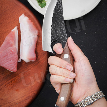 Handmade Forged Stainless Steel Kitchen Chef  Boning Knifes Fishing Knife Meat Cleaver Butcher Knife Meat Cleaver Hunting Knives 2