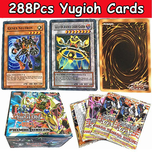 288pcs/set Yu Gi Oh Game Cards Classic Carton YuGiOh Anime Yu Gi Oh English Play Game Cards Collection Boy Toys Gift