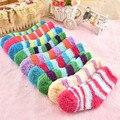 5 пар/лот зимняя теплая одежда; Коралловый флис; Модные милые Детские Носки для маленьких мальчиков и девочек 0-2Years