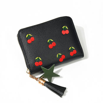 New 2020 Lady Women's Wallets Purse Clutch Wallet Embroidered Short Small Bag Card Holder Ladies Zipper Wallet