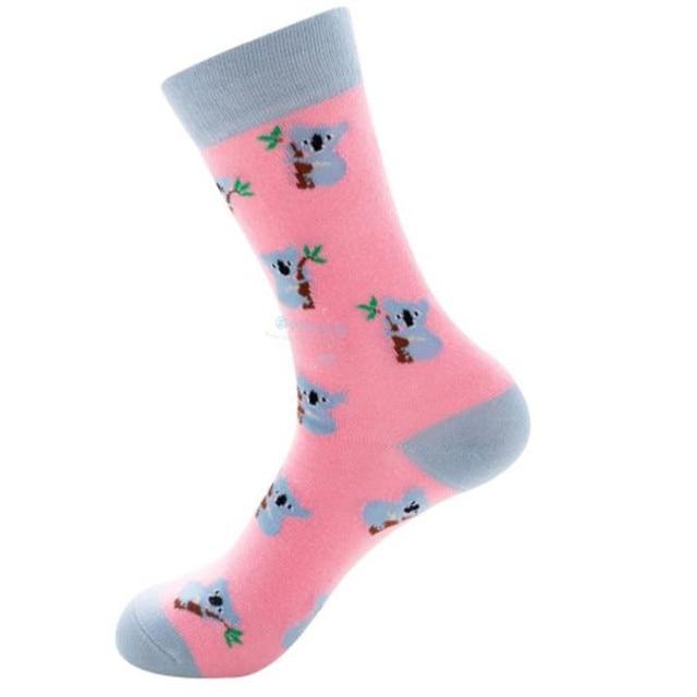 Corrida de toros, pingüino, nutria rosa, canguro, nutria verde lago, calcetines de Tubo macho y hembra ZQ010