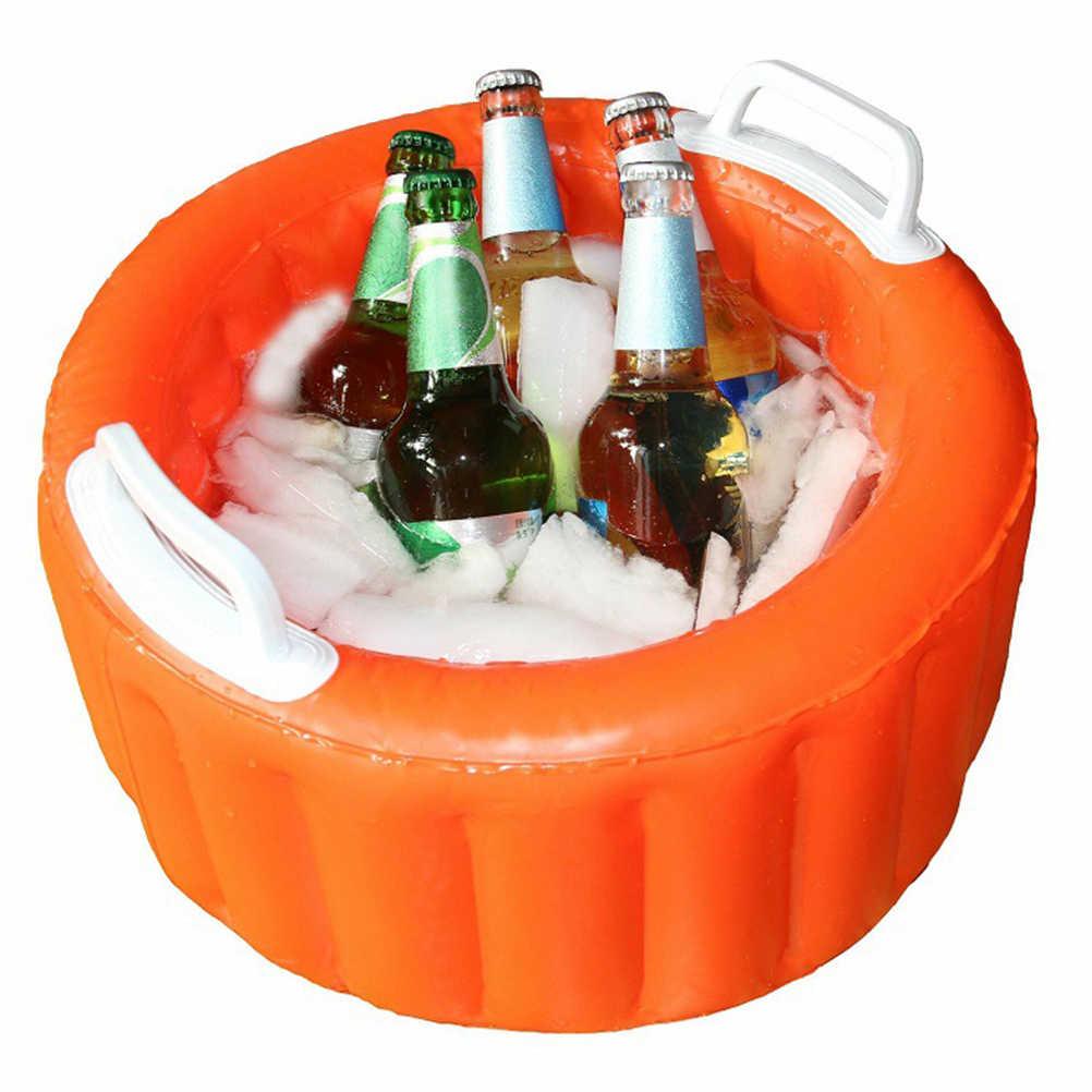 Multifunctiona Inflatable Beer Meja Kolam Renang Kasur Udara Ice Bucket Melayani/Salad Bar Nampan untuk Pesta Pantai Makanan Minuman Pemegang