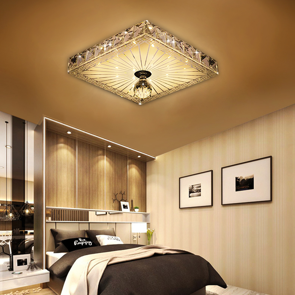Modern LED Ceiling lights Aisle Veranda Lighting Down Crystal Mordern Surface Mounted LED Ceiling Lights for Living Room