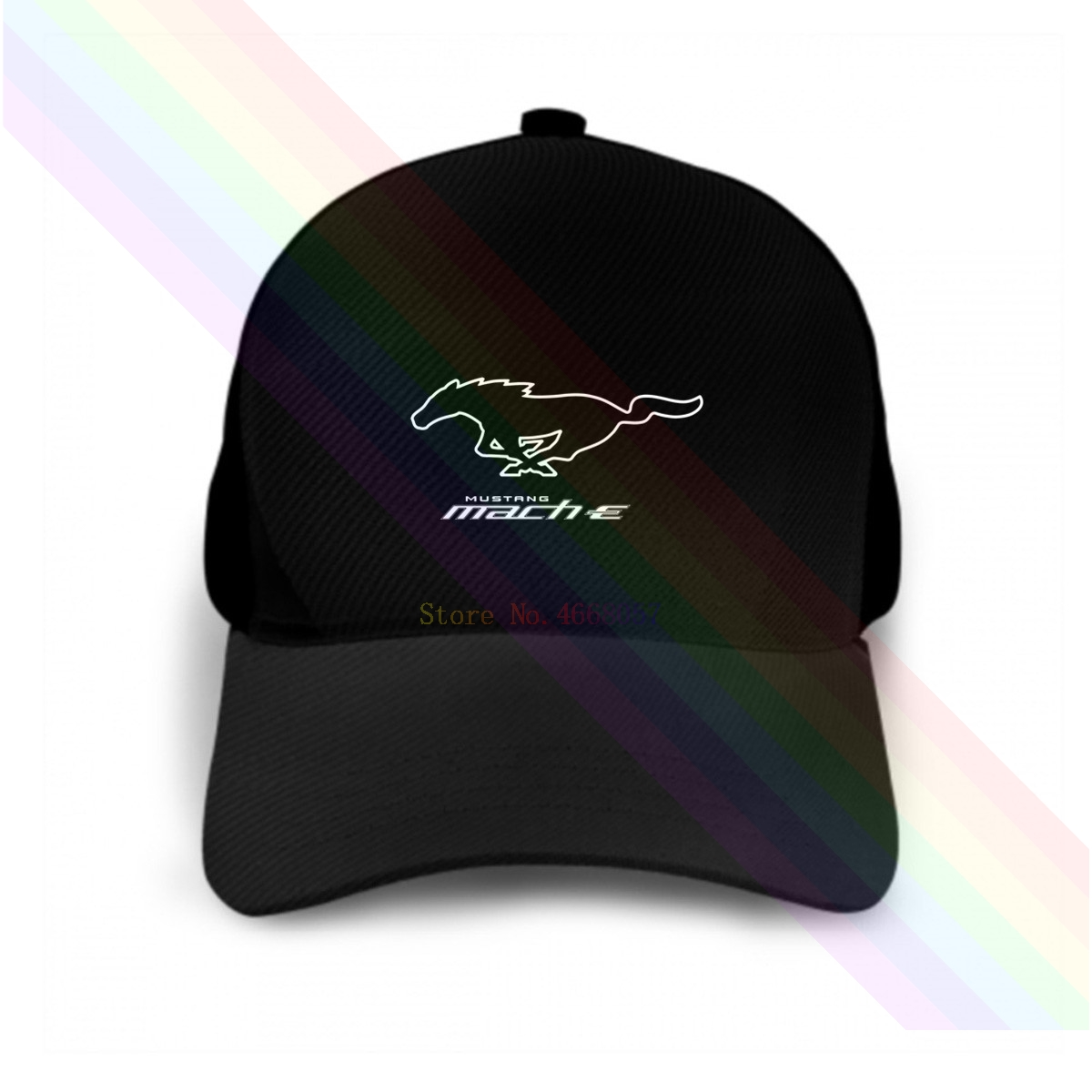 Imported From Abroad Ford Mustang Mach-e Logo Motor Classic 2020 Newest Black Popular Baseball Cap Hats Unisex