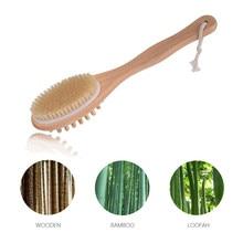 2-in-1 Bath Body Brush Boar Bristles Exfoliating Bo