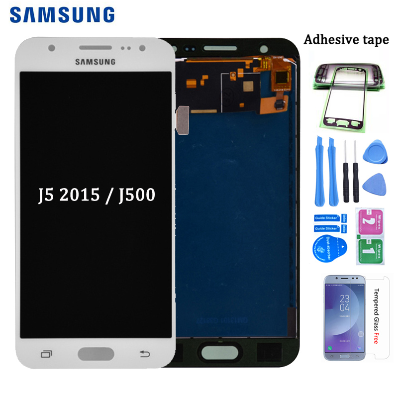 For Samsung GALAXY J5 2015 J500 J500FN J500M J500H LCD Display With Touch Screen Digitizer Assembly Adjust Brightness