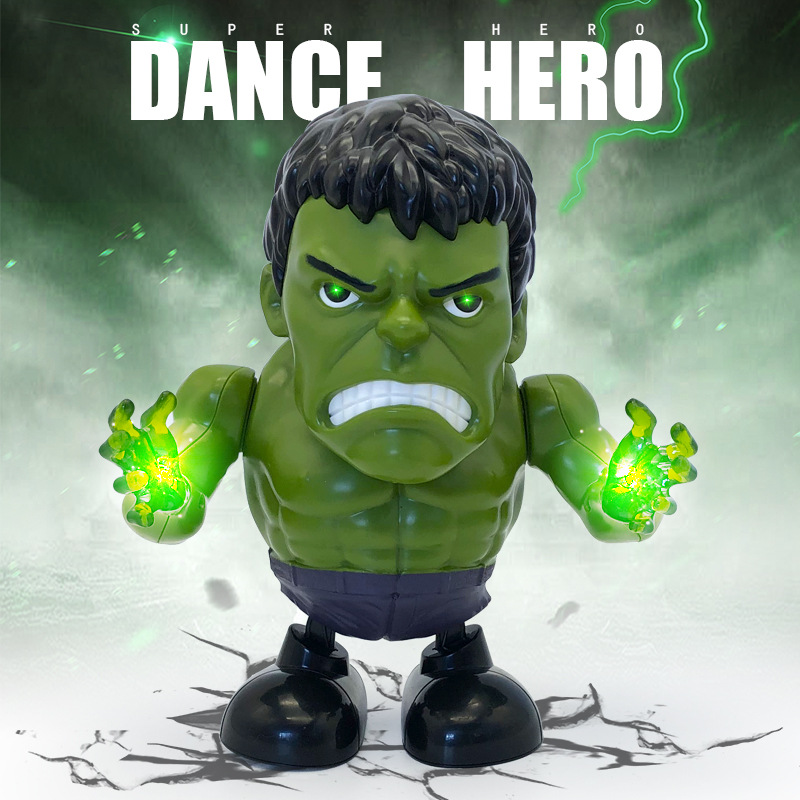 New Style Di S Online Celebrity Celebrity Style Hulk Electric Dancing Robot Sway Light Music Night Market Hot Selling