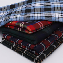 146cmx50cm polyester twill check cloth yarn dyed Scottish plaid fabric for JK Pleated skirt uniform clothes bags garment