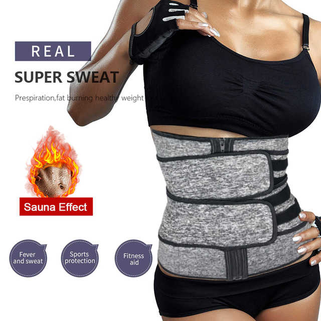 Women Hot Sweat Neoprene Waist Trainer Corset Trimmer Belt Body Shaper Slimming for Weight Loss Body Stomach Shaper Cincher 2
