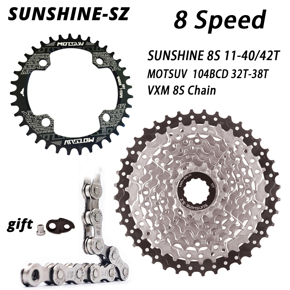 8 Speed Mountain Bike Cassette 11-40/42T Wide Ratio MTB 8speed Bicycle Sprocket 8S Freewheel for M310 M360 Alivio M410 HG31-8 image