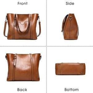 Image 4 - Herald Fashion Women Leather Handbags Ladies Large Casual Tote Bag Quality Female Shoulder Bags Bolsas Femininas Sac A Main