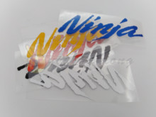 12*4cm Motorcycle decorative reflective sticker  fit for Moto GP Rossi   kawasaki ninja logo  Car Stickers 5 styles forever senna sempre ayrton car stickers motorcycle helmet phone sticker decals reflective moto gp driver