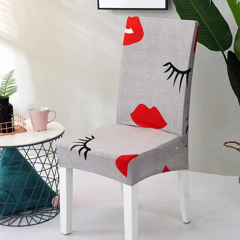 인쇄 된 의자 커버 빨 수있는 이동식 큰 탄성 시트 커버 Slipcovers 연회 호텔에 사용 홈 housse 드 chaise