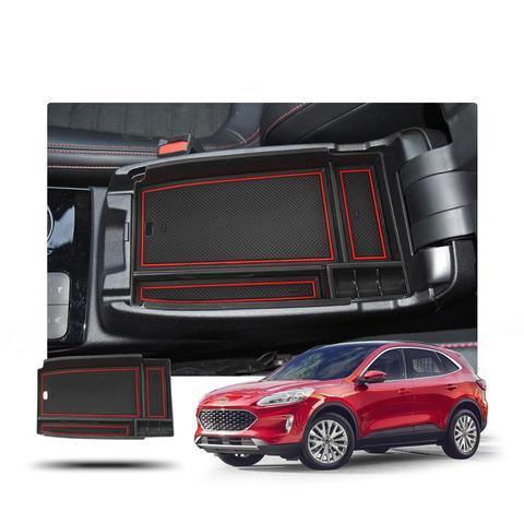 lfotpp caixa de armazenamento central do carro para a fuga 2020 corrimao resolver caixa de